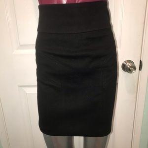 High waisted ponte skirt